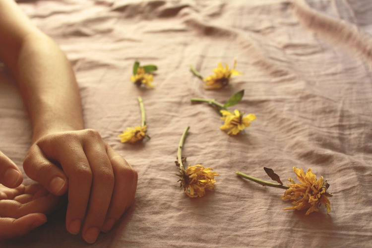 Hands Flower Self Portrait Fine Art Photography