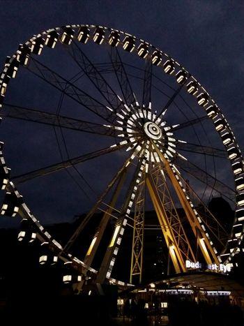 spin 🌻🎡🌼🌙 Ferris Wheel Night Sky Glow *.* Budapesteye
