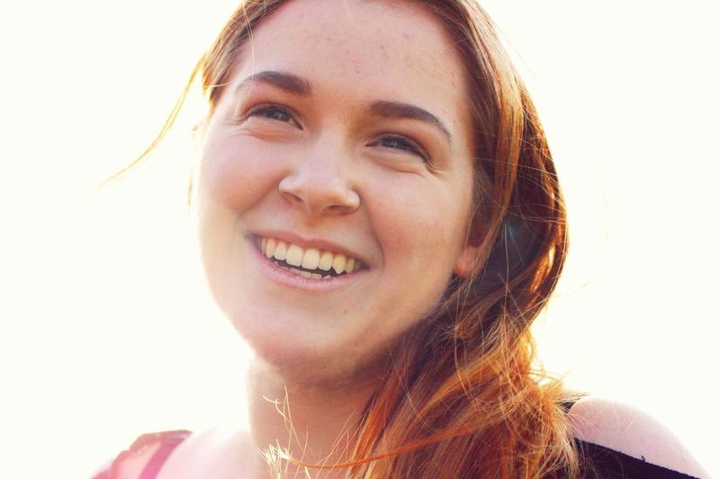 Smiling Headshot Happiness Portrait Toothy Smile One Person Cheerful Looking At Camera Front View Only Women One Woman Only Close-up Beautiful Woman Adult One Young Woman Only Day Adults Only Young Women Outdoors Live For The Story The Portraitist - 2017 EyeEm Awards The Portraitist - 2017 EyeEm Awards Mix Yourself A Good Time Paint The Town Yellow Visual Creativity