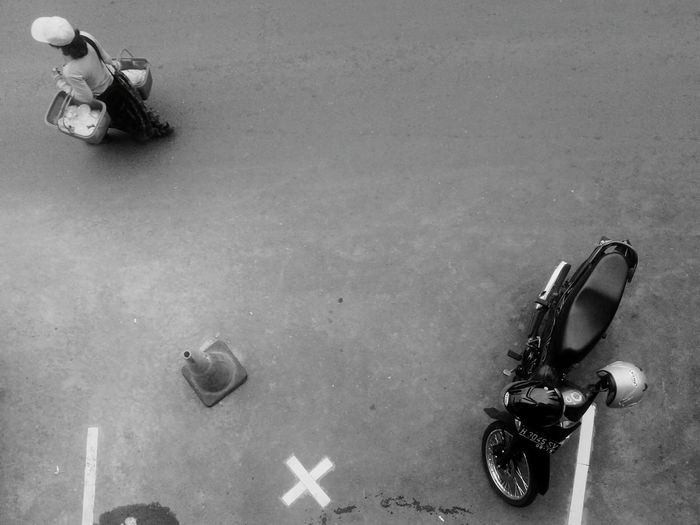 Wrong parking Blackandwhite Parking Parked Motor Motorcycle Street Upside Down Stories From The City
