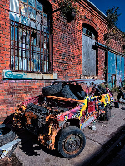 Re-tyre-ment Outdoors United Kingdom England🇬🇧 Colourful Colours No People Architecture Abandoned Places Architecture_collection Abandoned Transport Multi Colored Eyeem Market Car Stock Car Tyres Car Tyre Crash Crashed Car Lights And Shadows Urban Urban Geometry Urban Exploration Sunshine Mode Of Transport