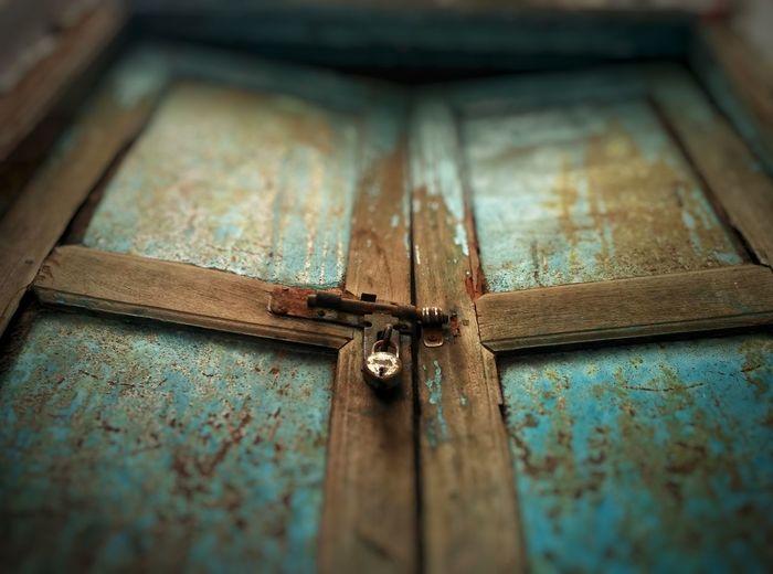 Close-Up Of Textured Door
