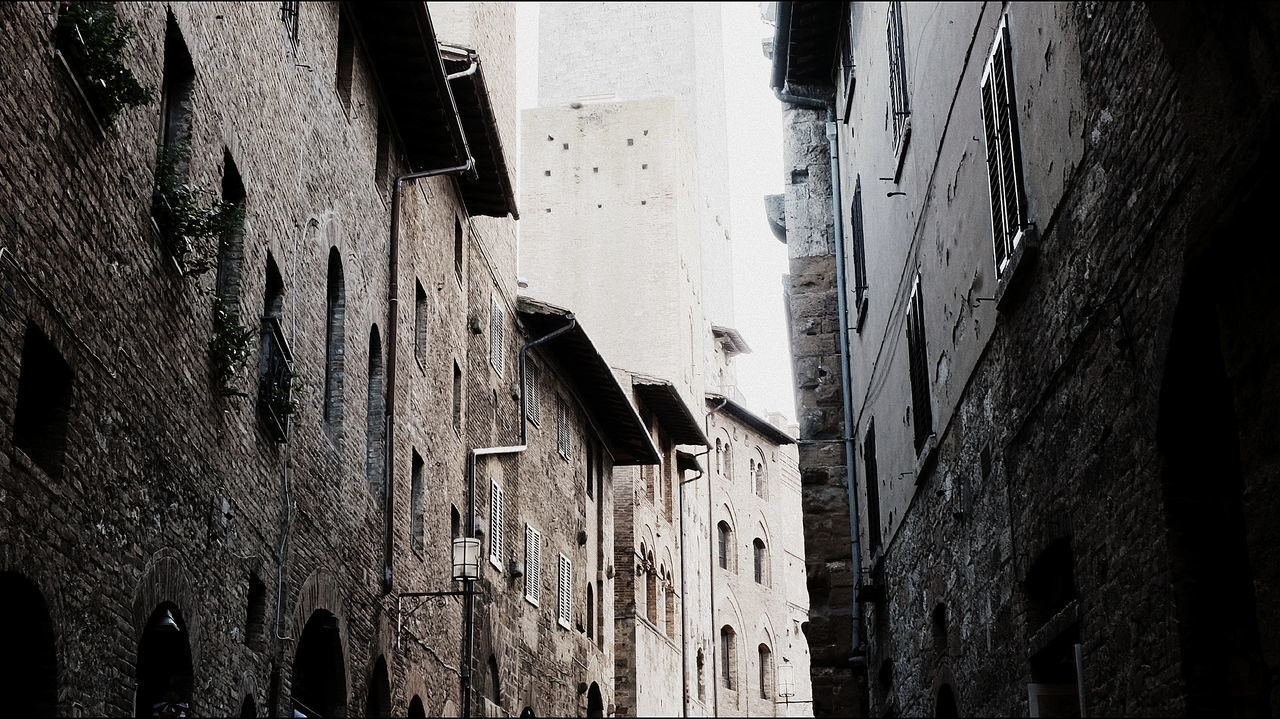 LOW ANGLE VIEW OF OLD BUILDINGS