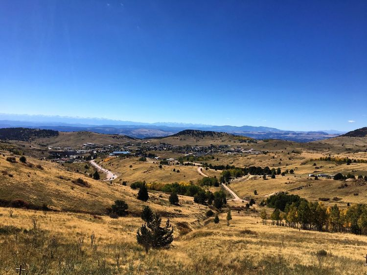 Landscape Tranquil Scene Blue Tranquility Scenics Copy Space Non-urban Scene Mountain Clear Sky Colorado Rocky Mountains Cripple Creek Countryside Beauty In Nature Nature Solitude Remote Mountain Range Outdoors Day Valley No People Dramatic Landscape Cemetery