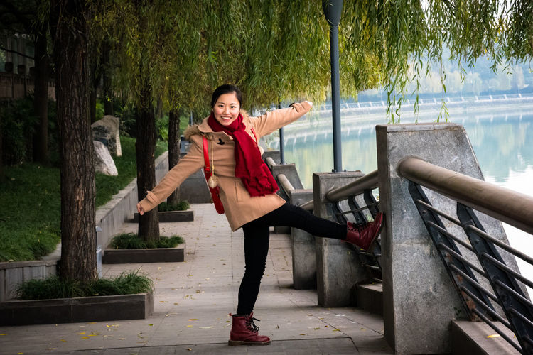ASIA Beautiful Woman Cheerful Chengdu China Happiness Nature Outdoors Sichuan Smiling