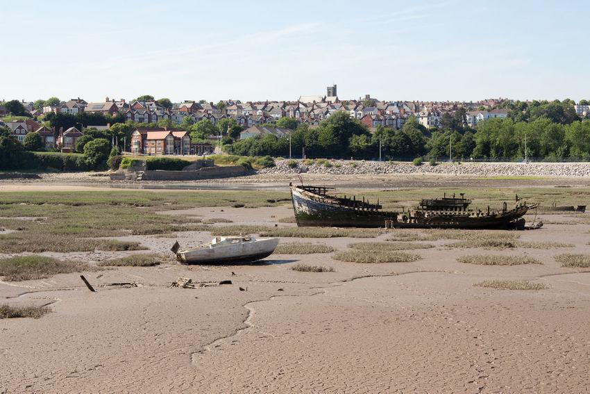 Nautical Vessel Abandoned Old Sky Beached Sand Shipwreck Barry Island