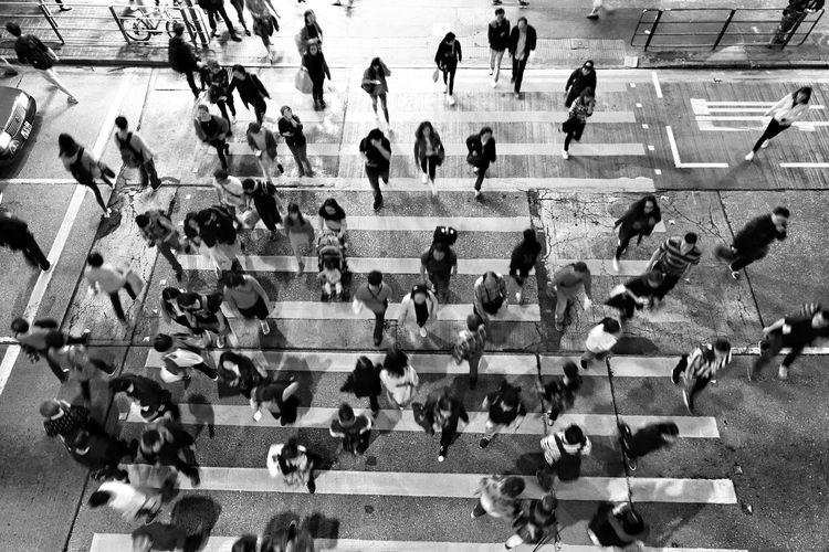 Tadaa Community Hello World Discoverhongkong Crowd Men Women High Angle View Zebra Crossing Crosswalk