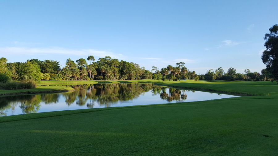 Golf Course....Sunrise Beauty In Nature Golf Course Nature Sky Sunrise Tranquility Water West Palm Beah Florida