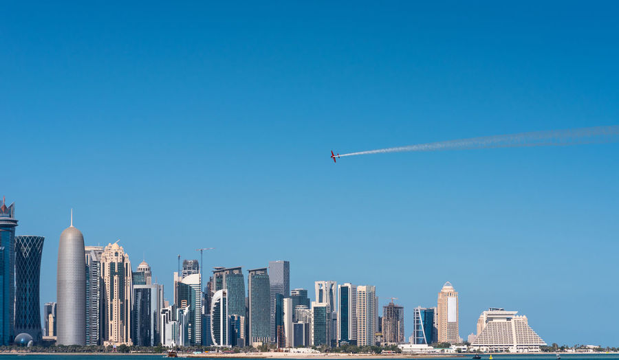 Doha skyline in the morning, qatar