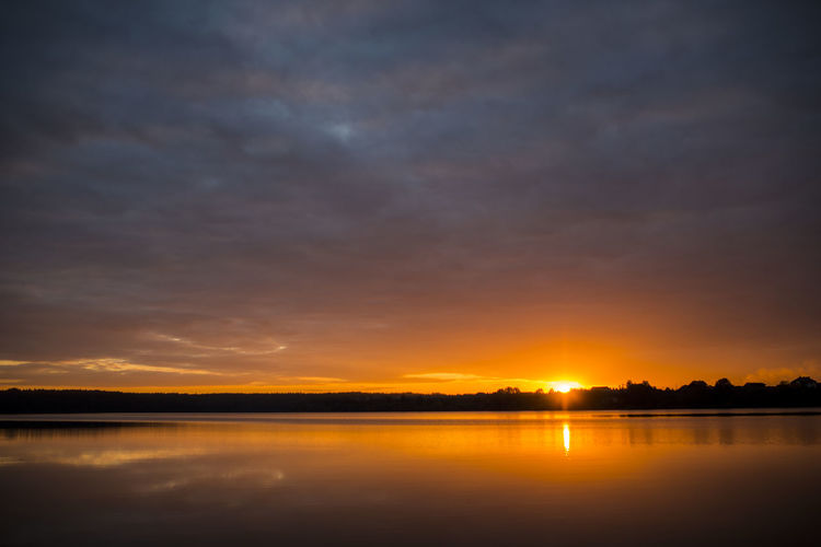 Beauty In Nature Cloud - Sky Idyllic Lake Nature No People Reflection Scenics - Nature Sky Sun Sunset Tranquil Scene Tranquility Water Олександрія Рівне / Rivne Україна захід сонця небо озеро