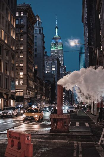 Street City Streetphotography Empire State Building NYC Photography NYC Street NYC Street Photography NYC LIFE ♥ NYC Architecture Built Structure Building Exterior City Travel Destinations Building Tower Transportation Mode Of Transportation Illuminated Car Night Land Vehicle Travel Tourism Tall - High