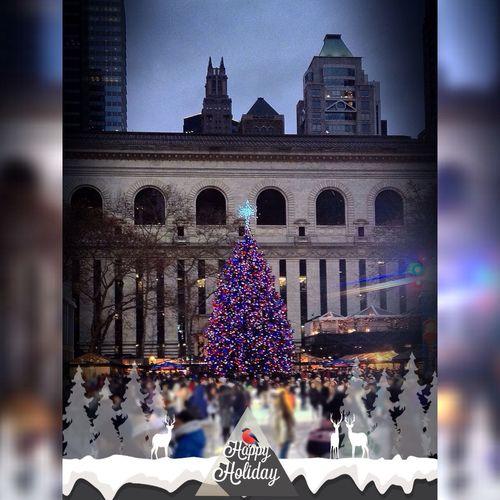 Bryantpark Christmas Christmas Tree Christmas Lights Nightphotography New York NYC NYC Photography New York City Christmas Lights!