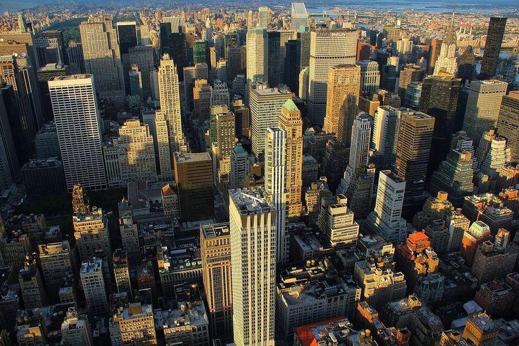 Manhattan, new york city, roof top view