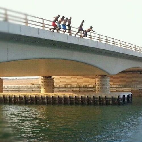 Jumpin the bridge Freefall Felix Yolo Boysgonecrazy @kduneq @khalfanbinhamid @marwanabdulla1 @minaalarab rak