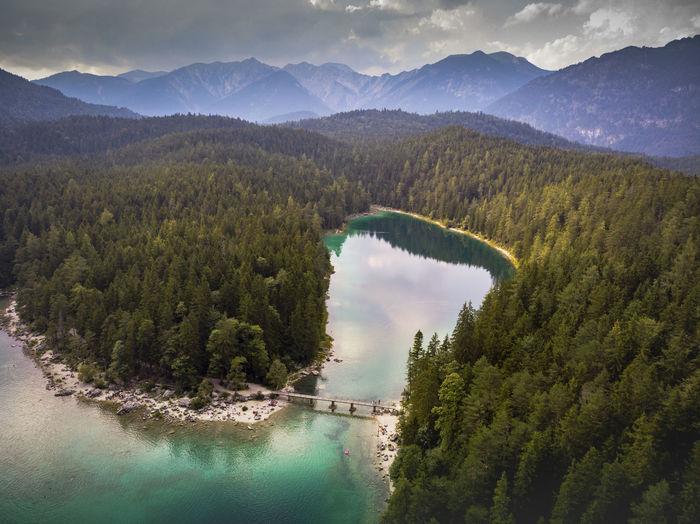 DJI X Eyeem Drone  Drones Eibsee EyEmNewHere Nature Photography Zugspitze Zugspitze Beautiful Nature Beauty In Nature Dji Dji Spark Dronephotography High Angle View Mountain Mountain Range Nature Reflection Scenics - Nature