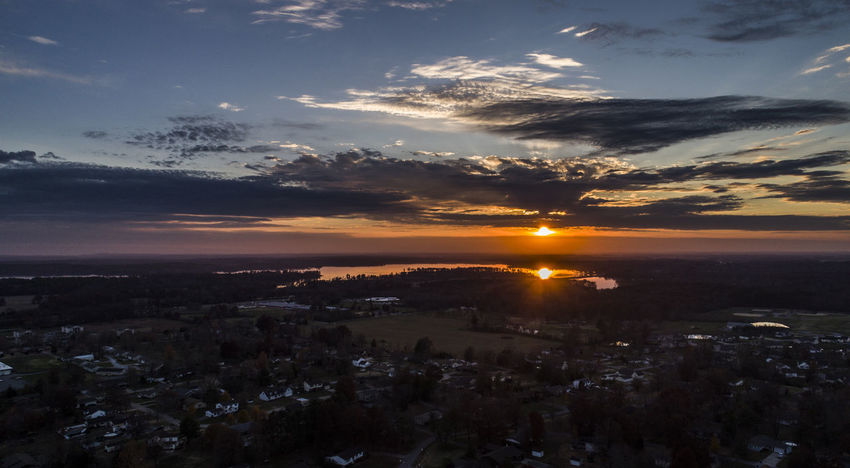 Drone  Sky And Clouds Sunset_collection Aerial Aerial View Architecture Beauty In Nature City Cityscape Clouds Dji Lake Nature No People Outdoors Scenery Sky Sunset