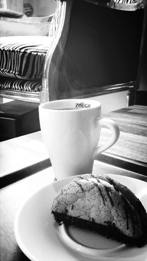 Coffee Relaxing Black And White Cafe Time