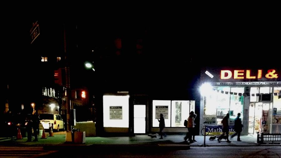 Street scene. Night Illuminated Text City Outdoors People One Person Adults Only Sky Film Industry Adult