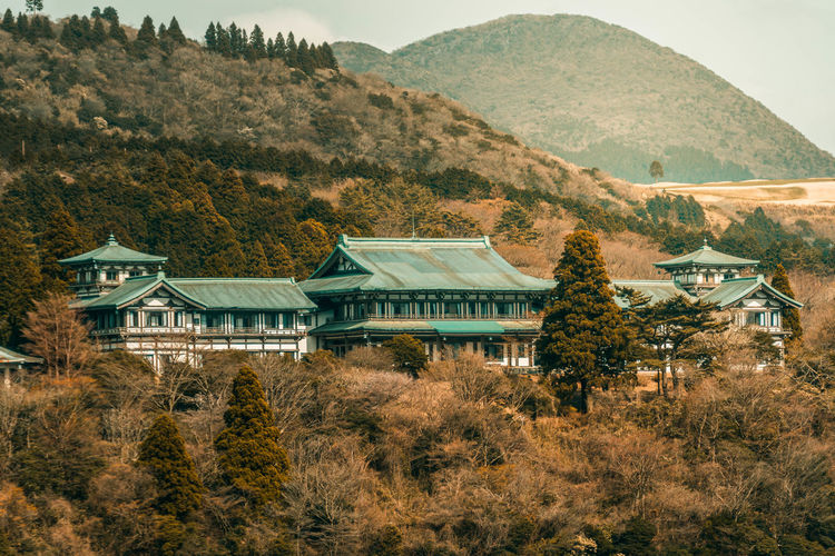 hakone Architecture Beauty In Nature Building Building Exterior Built Structure Day Environment Hakone House Land Landscape Mountain Mountain Range Nature No People Outdoors Plant Residential District Scenics - Nature Sky Tranquility Tree The Traveler - 2018 EyeEm Awards