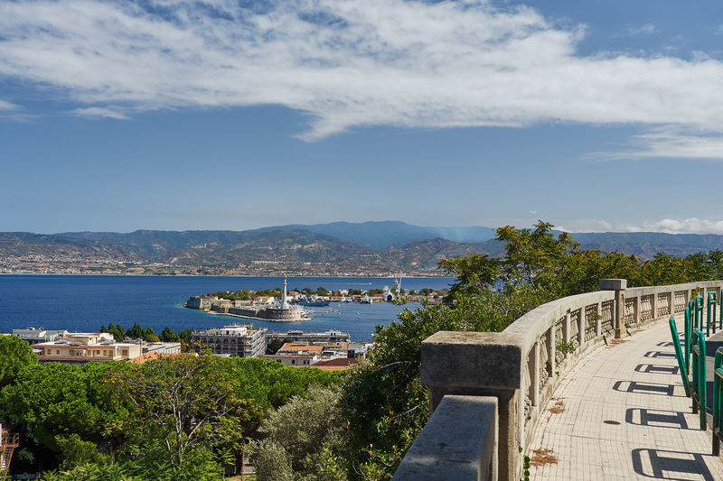 View of Port of Messina Madonna Mediterranean  Sicily Architecture Building Exterior Built Structure City Cityscape Cloud - Sky Day Holy Mary Italy Madonna Of Messina Messina Mountain Nature No People Outdoors Scenics Sea Sky Town Water