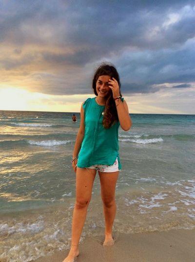 Enjoying The Sun Seaside Happiness Relaxing Enjoying Life