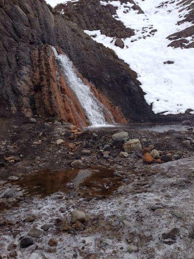 Hermosa cascada con agua caliente :)