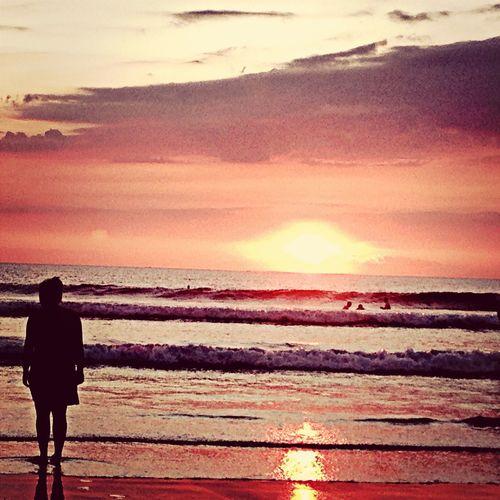 Sunset Silhouettes Sunset Pantai Kuta (Kuta Beach) Beach