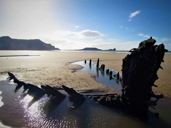 Wreck of Helvetia, Rhossili Bay Beach Beauty In Nature Blue Sky Gower Gower Peninsular South Wales Gowercoast Gowerpeninsula Helvetia Nature Peninsula Rhossili Rhossili Bay Sand Scenics Sea Shipwreck Shipwreck Beach Sky Tranquil Scene Tranquility Viking Ship Wales Wales UK Water Neighborhood Map Lost In The Landscape EyeEm Ready   Shades Of Winter Inner Power Go Higher Summer Exploratorium #FREIHEITBERLIN