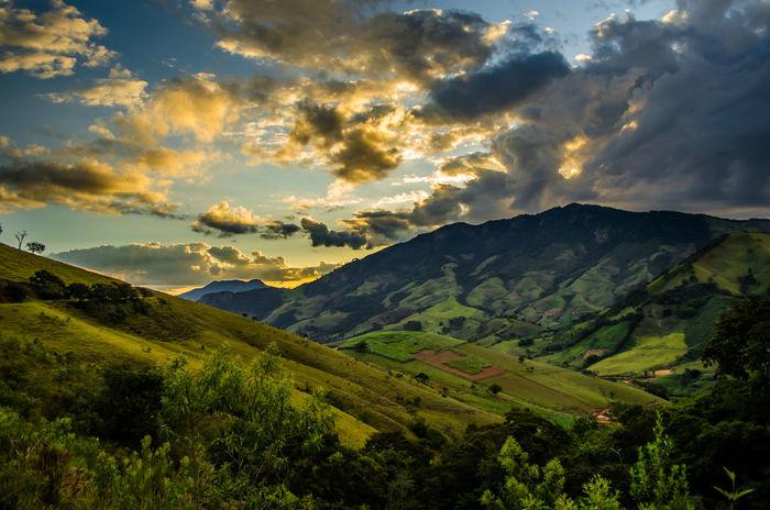 View from Cantagalo Mountains in Itajubá, southern Minas Gerais, Brazil. Itajubá Landscape Mantiqueira Montanha Mountain Nature Natureza No People Outdoors Paisagem Pordosol Scenics Sky Sunset Sunsets
