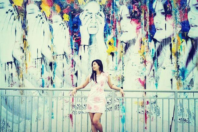 Photoshoot yesterday at Bonifacio High Street. Photo Credit to Jhun Chua. Painting Photoshoot Sunnyday Saturday Afternoon