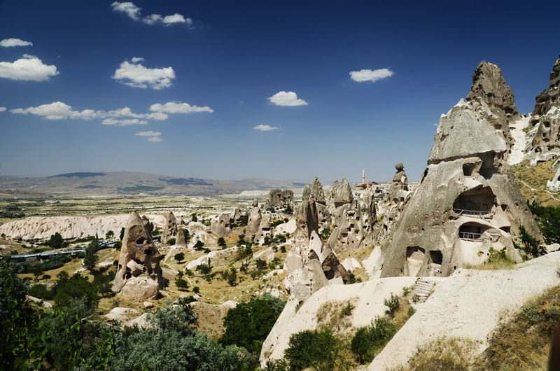 City of Uchisar in Cappadocia, Turkey Uçhisar Cappadocia Turkey Cappadocia/Turkey History Landmark Travel Destination Scenics Anatolia Cave City Famous Place Heritage Middle East Park Excursion Sightseeing Tourism Toruist Attraction Touristic Valley Adventure