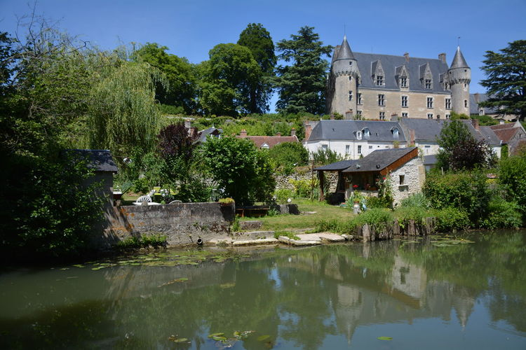 France France 🇫🇷 Reflection Day Outdoors No People Architecture Building Exterior Tree Water Sky Touraine French Castle Castles Castle Nature Tree History Architecture River Montresor Touraine, Fortress Historic Building Tranquility Calm Fortified Wall Historic Fort Medieval