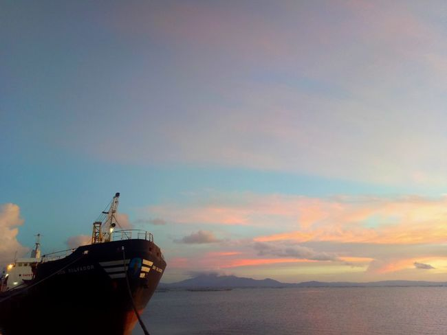 Nautical Vessel Sea Sunset Transportation Water Cloud - Sky Silhouette Outdoors Sky No People Nature Day Oil Pump Sorsogonprovince Wilmor Latosa Sorsogon Sorsogoncity Tranquil Scene Tranquility Ship Silhouette Dramatic Sky Business Finance And Industry Horizon Over Water