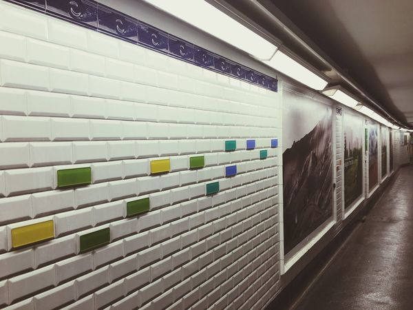 EyeEm Selects Indoors  No People Illuminated Built Structure Subway Subway Station Paris France