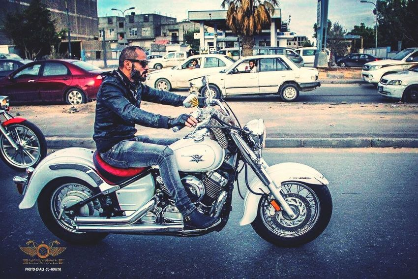 Friend Harley Davidson This Me Enjoying Life Black And White Photography That's Me Photography Motorcycles IPhone Design Devil Hello World Bangaizy Libya Taking Photos Silfe Harley Red Canon 70d Buty Way To Go Home