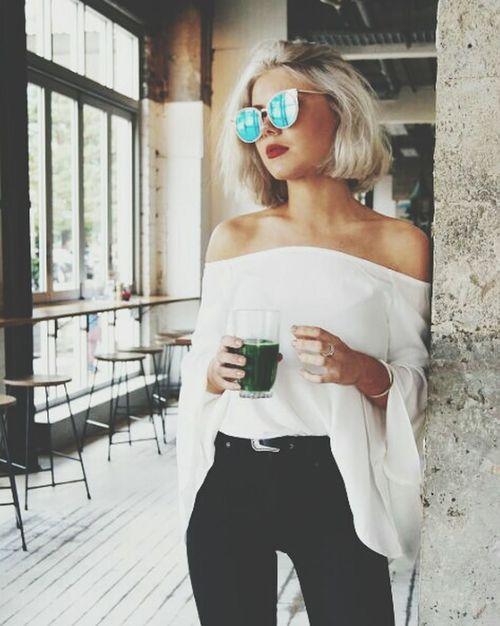 Ulyana Drinking Blond Hair First Eyeem Photo