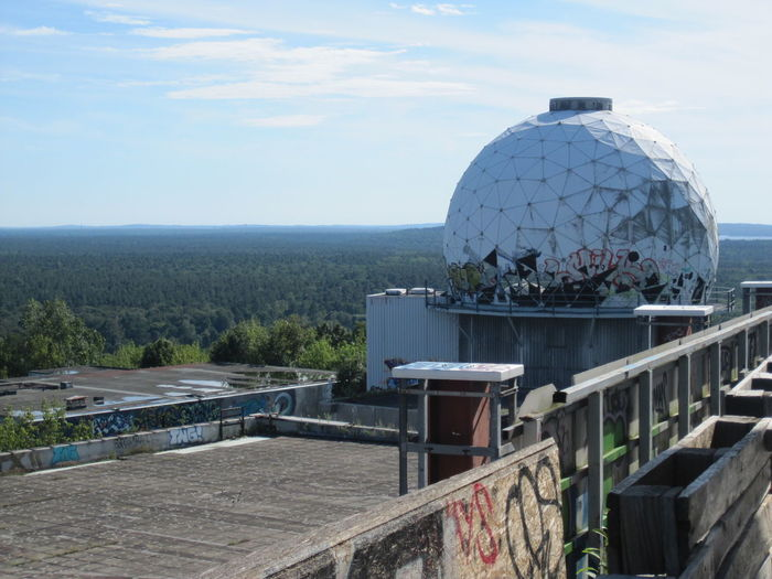 Architecture Beauty In Nature Berlin Blue Built Structure Cloud Cloud - Sky Day Growth Idyllic Landscape Mountain Nature No People Outdoors Plant Roof Scenics Sky Teufelsberg Tranquil Scene Tranquility Travel Destinations Viewpoint