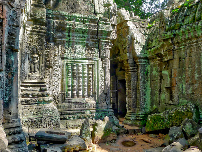Abandoned Ancient Ancient Civilization Angkor Wat Architecture Bad Condition Built Structure Cultures Day Door History Nature No People Old Ruin Outdoors Place Of Worship