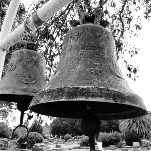 Bells Are Ringing Bells Of Worship Bells Bells In A Row Black And White Photography Black And White Bells Hanging Day No People Close-up