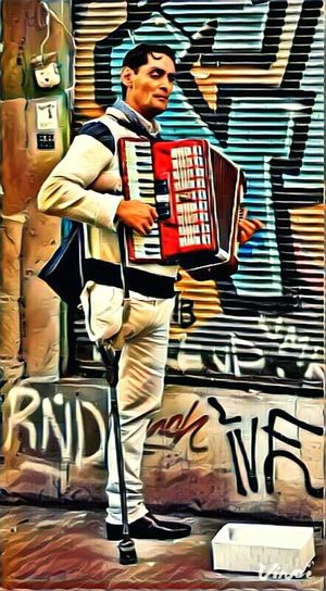 Full Length One Person One Man Only Only Men People Outdoors Vinci App Light And Shadow Lifestyle Turkey Photooftheday Light Istanbul Music Musician Accordeon Colorful Wall Art Wall ArtWork Art Culture Mood Song Musical Instrument Finding New Frontiers Traveling Home For The Holidays