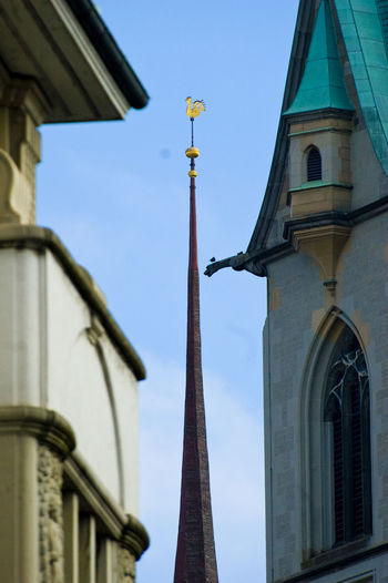Low Angle View Of Weather Vane By Church