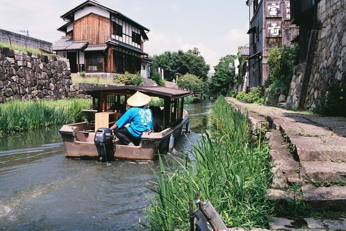 Ōmihachiman Riverside Boat Tour Old Town Filmphotography NIKON F100 Nikkor 35mm-70mm F/2.8 Fujifilm Water Outdoors Architecture People 3XPSUnity