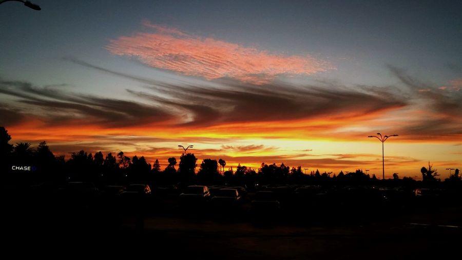 Sky on Fire. Clouds And Sky