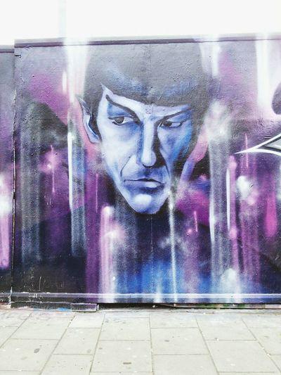 Streetart Mr Spock , Graffiti RIP