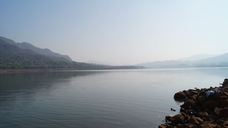 Beauty In Nature Clear Sky Day India Lake Mountain Mountain Range Mulshi Nature Outdoors Pune Real People Scenics Sky SonyAlpha58 Tranquil Scene Tranquility Tree Water