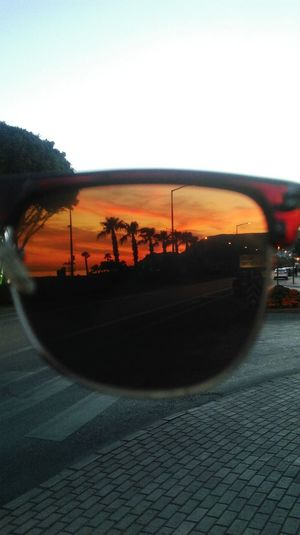 Through my sunglasses. Sunglasses Holidays Vacation Turkey Enjoying Life With Friends Good Times Landscape Sunset Palms Turkishflair Check This Out Hello World Getting Creative