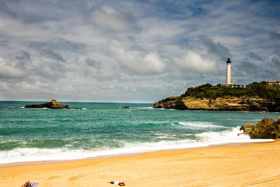 light house at sea Beach Beauty In Nature Cloud - Sky Day Horizon Over Water Lighthouse Nature No People Outdoors Sand Scenics Sea Shore Sky Tranquil Scene Tranquility Travel Destinations Water Wave