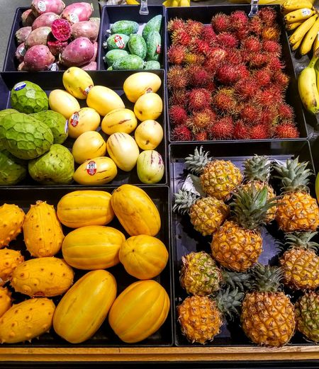 Tiny pineapples Fruit Healthy Eating Variation Choice Freshness Food And Drink Abundance Food No People Pear Large Group Of Objects Day Apple - Fruit Citrus Fruit Market Multi Colored Indoors  Close-up Supermarket Pineapple Produce Dragonfruit Farmstand