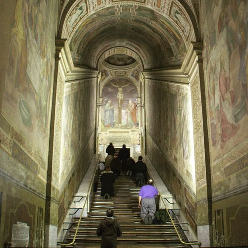 Scala Sancta Staircase Steps And Staircases Indoors  Built Structure Architecture Men Travel Destinations