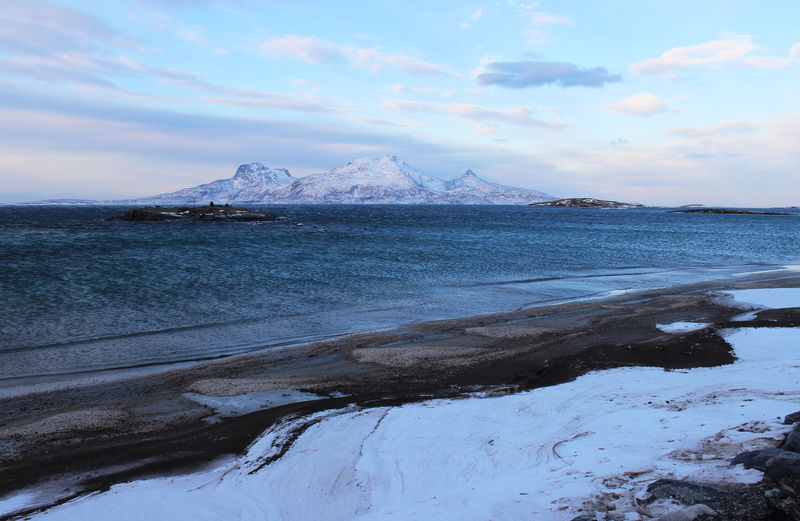 Walking on an beach in Bodø wintertime Sky Water Beauty In Nature Scenics - Nature Mountain Winter Tranquil Scene Tranquility Cold Temperature Cloud - Sky Snow Nature No People Non-urban Scene Land Beach Sea Environment Snowcapped Mountain Mountain Peak Winterbeachscene Norway🇳🇴 Bodø